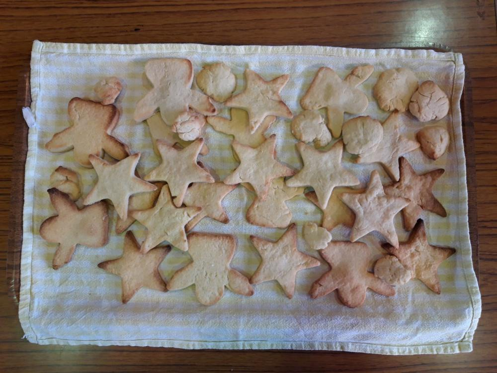 Delicious star and angel biscuts